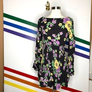 NEW Urban Outfitters floral drop waist dress